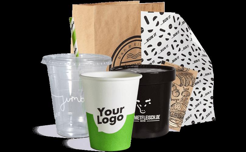 To Go-Verpackung mit Ihrem Logo bedrucken.